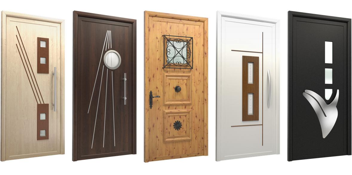 Puertas de entrada paneladas en pvc aluminio y madera for Puertas de calle de pvc